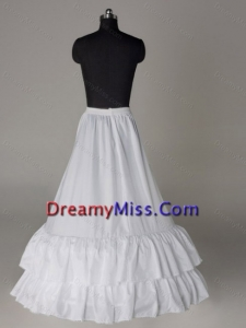 Two Layers A line Taffeta Floor length Petticoat