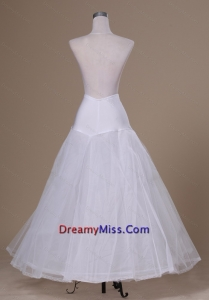 Beautiful A line Floor length Tulle and Organza Wedding Petticoat