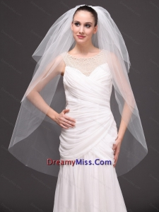 Three Tier Tulle Drop Veil For Wedding On Sale