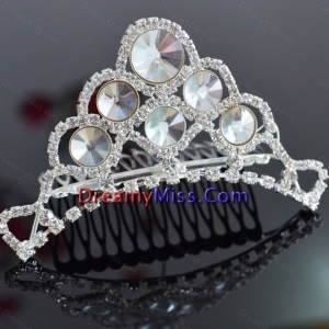 Custom Made Tiara With Beaded Decorate