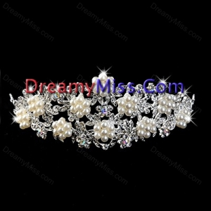 Exclusive Imitation Pear With Alloy Wedding Tiara