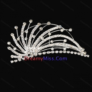Fashionable Flower Girl Tiara With Rhinestones