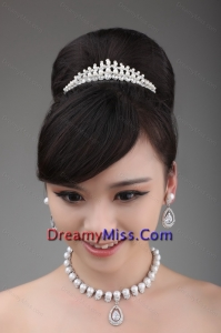 Together with Rhinestone Pearl and Alloy in Necklace and Tiara
