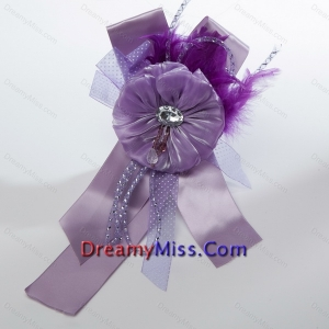 Beautiful Lavender Tulle Feather Hair Ornament