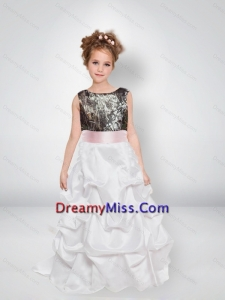 Sweet A Line Scoop 2015 Camo Little Girl Pageant Dresses with Bowknot