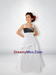 2015 Exclusive A Line Straps Little Camo Flower Girl Pageant Dresses with Sweep Train