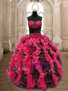 Luxurious Backless Quinceanera Dress with Beading and Ruffles
