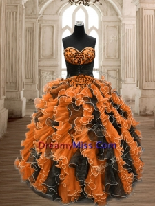 Orange and Black Prom Dresses
