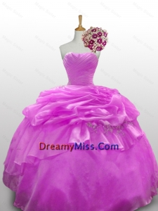 2015 Fashionable Beaded Quinceanera Dresses with Ruffled Layers