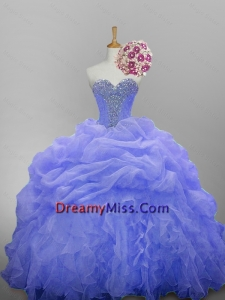 Luxurious Sweetheart Quinceanera Dresses with Beading and Ruffled Layers