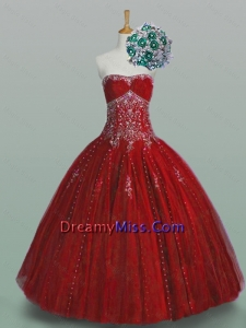 Classical Strapless Sweet 16 Dresses with Beading and Appliques