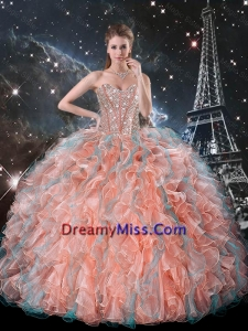 2016 The Super Hot Ruffles and Beaded Quinceanera Dresses in Multi Color
