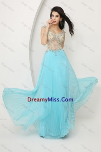Perfect Beaded Straps Zipper Up Prom Dresses Fall with Cap Sleeves