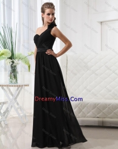 Exclusive Empire One Shoulder Prom Dresses with Belt