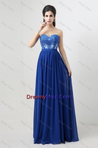 Hot Sale Sweetheart Blue Prom Dresses 2016 with Appliques