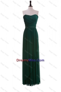2016 Stylish Made Empire Strapless Ruching Prom Dresses in Dark Green