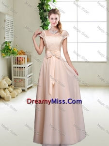 Cheap Laced Square Dama Dresses with Bowknot