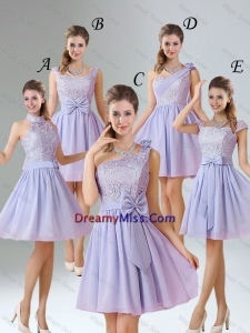 2016 Spring A Line Mini Length Prom Dresses in Lavender