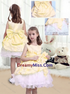 2015 Fall Perfect A Line Scoop Sashes and Bowknot Little Girl Pageant Dresses