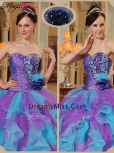 Classical Multi Color Quinceanera Dresses with Beading and Ruffles