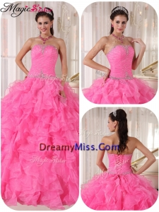 Exclusive Ball Gown Strapless Sweet 16 Gowns with Beading