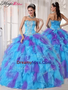 Pretty Ball Gown Beading and Appliques Quinceanera Dresses