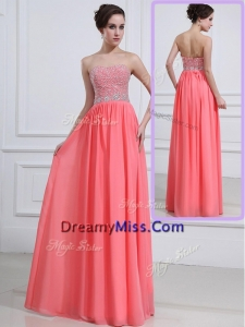 Popular Sweetheart Watermelon Prom Dresses with Beading