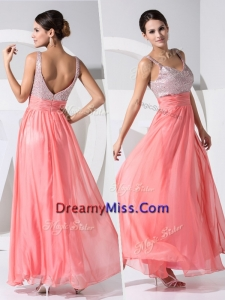 Pretty Arrivals Empire Straps Sequins Prom Dresses in Watermelon