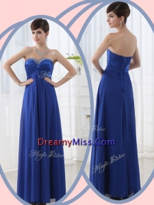 Romantic Empire Sweetheart Prom Dresses with Beading