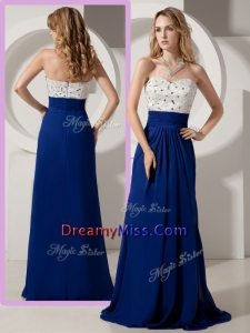 Timeless Empire Brush Train Beading Prom Dresses for Evening