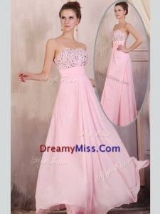 Timeless Empire Sweetheart Beading Baby Pink Prom Dress