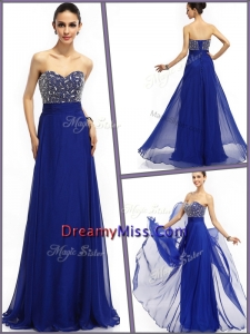 Unique Empire Sweetheart Prom Dresses in Royal Blue