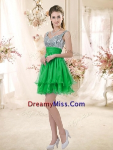 Unique Short Straps Prom Dresses with Sequins for Fall
