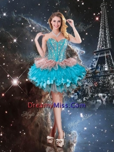 Unique Sweetheart Short Prom Dresses with Beading for 2016