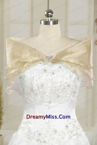 Organza Beading Champagne Fall Shawls for Wedding