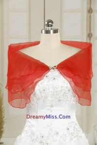 2015 Fall Red New Style Shawls with Beading