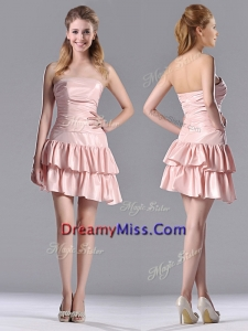Low Price Ruffled Layers Short Prom Dress in Asymmetrical