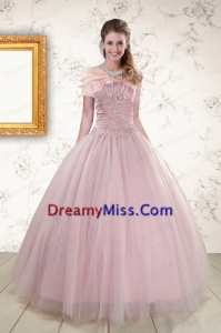 Popular Pink Strapless Elegant Sweet 16 Dresses with Appliques