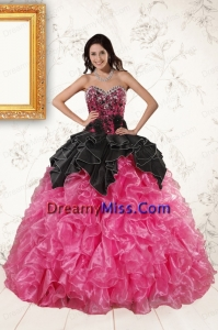 Sweetheart Ball Gown Ruffled Quinceanera Dresses in Two Toned