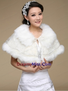 2015 Top Selling Wedding Shawl with Open Front