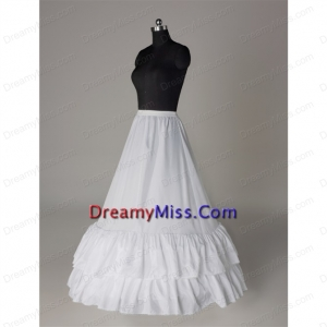 Affordable Organza Floor length Wedding Petticoat in White