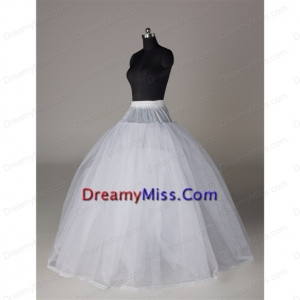 Fashionable Organza Ball Gown Floor length Petticoat in White