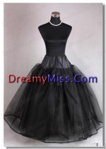 High End Organza Ball Gown Floor-length Black Petticoat