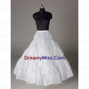 Luxurious Organza Ball Gown Floor length White Petticoat