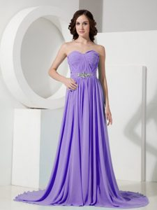 Discount Sweetheart Purple Ruched Zipper-up Evening Dress Patterns