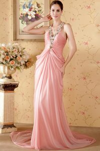 Watermelon Halter Ruched Long Evening Formal Gown 2013 Best Seller