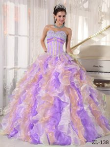 Sweetheart Long Spring Dresses for Quince in Multi-color