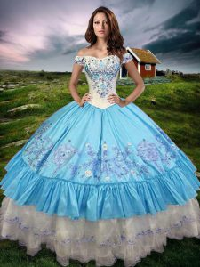 Admirable Sleeveless Beading and Embroidery and Ruffled Layers Lace Up Quinceanera Gown