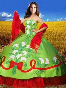 Edgy Floor Length Multi-color Quinceanera Dresses Sweetheart Sleeveless Lace Up