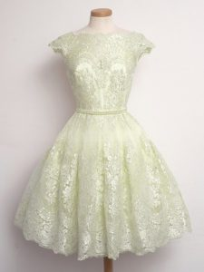 Discount Cap Sleeves Lace Lace Up Dama Dress for Quinceanera